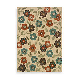 Cabana Bay Resort Indoor/Outdoor Rug in Ivory Floral