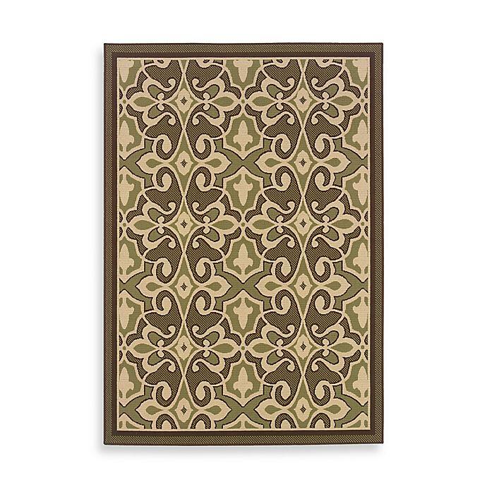 Alternate image 1 for Oriental Weavers Cabana Bay Resort Damask 2'5 x 4'5 Indoor/Outdoor Accent Rug in Green