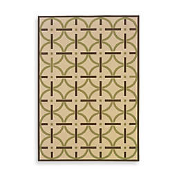 Cabana Bay Villa Bullseye Indoor/Outdoor Rug in Ivory