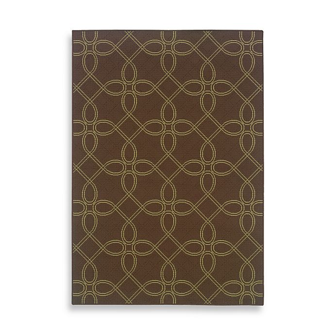 Bed Bath And Beyond Area Rugs Roselawnlutheran Earth Tone: Cabana Bay Resort Tile Indoor/Outdoor Rug In Brown/Ivory