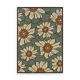 Cabana Bay Resort Indoor/Outdoor Rug in Blue Floral