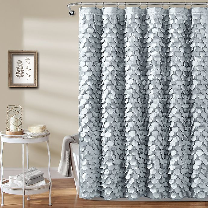 Alternate image 1 for Gigi 72-Inch x 72-Inch Shower Curtain in Silver
