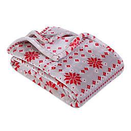 Berkshire Blanket & Home Co™ Printed VelvetLoft Throw in Red