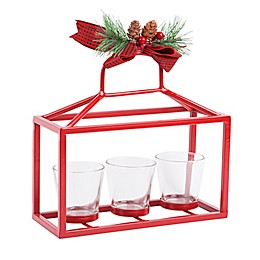 Home Essentials & Beyond 9-Inch Candle Holder Runner in Red