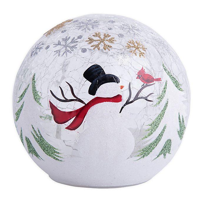 Alternate image 1 for Home Essentials & Beyond LED Snowman Design Gazing Ball