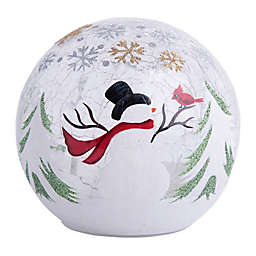 Home Essentials & Beyond LED Snowman Design Gazing Ball