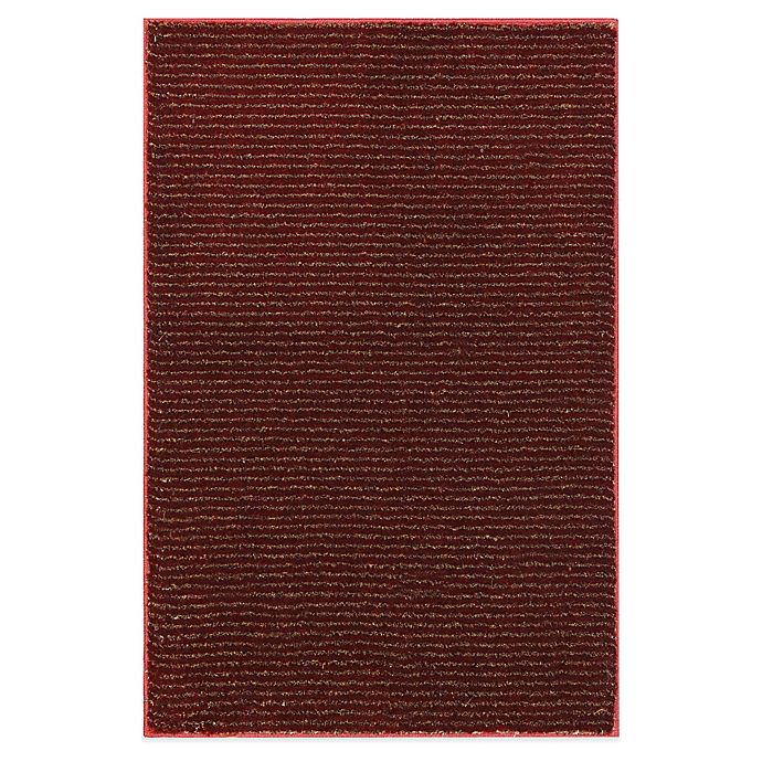 Alternate image 1 for Mohawk Home® Pinstripe 1-Foot 8-Inch x 2-Foot 10-Inch Rug in Madder Root