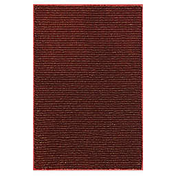 Mohawk Home® Pinstripe 2-Foot 6-Inch x 3-Foot 10-Inch Washable Rug in Madder Root