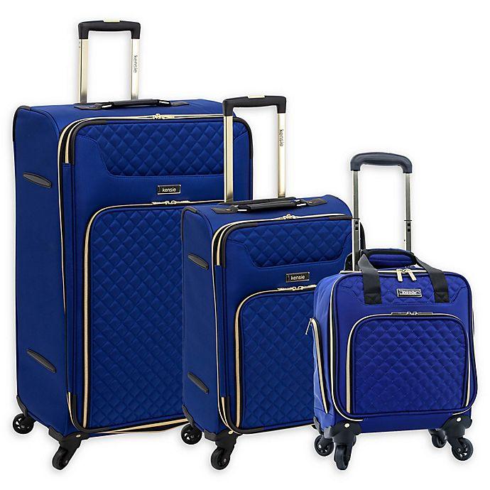 Alternate image 1 for Kensie Aurea Luggage Collection in Cobalt Blue