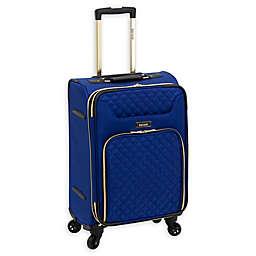 Kensie Aurea 20-Inch Softside Spinner Carry On Luggage in Cobalt Blue