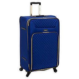 Kensie Aurea 28-Inch Softside Spinner Checked Luggage in Cobalt Blue