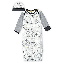Just Born® 0-6M 2-Piece Organic Cotton Lion Gown and Hat Set