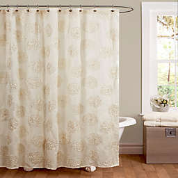 Samantha Shower Curtain In Ivory