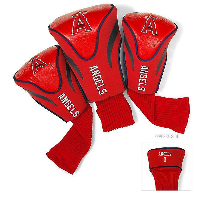 Alternate image 1 for MLB Los Angeles Angels 3-Pack Contour Golf Club Headcovers