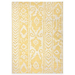 Jaipur Khalid Floral Indoor Rug in White Butter