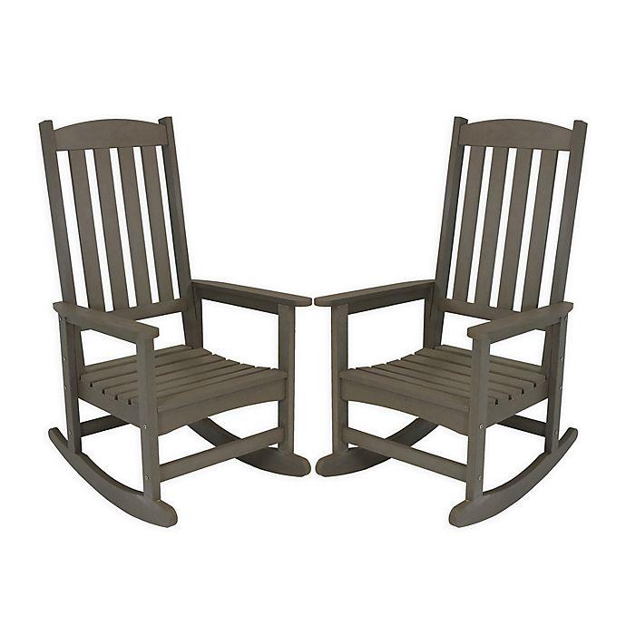 Sunnydaze Decor All Weather Rocking Chairs Set Of 2