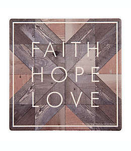 "Portavasos ""Faith, Hope, Love"", Thirstystone® Set de 4"