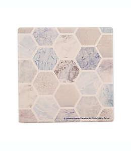 Portavasos Thirstystone® con diseño de hexágonos, Set de 4