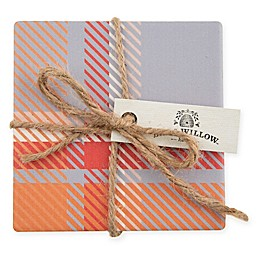 Bee & Willow™ Home Spiced Plaid Coasters (Set of 4)