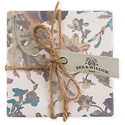 Bee & Willow™ Home Oak Leaf Floral Coasters (Set of 4)