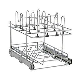 2-Tier Pot and Lid Kitchen Organizer, Chrome