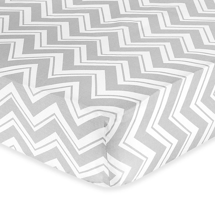 Alternate image 1 for Sweet Jojo Designs Zig Zag Chevron Print Fitted Crib Sheet