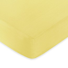 Sweet Jojo Designs Zig Zag Chevron Solid Yellow Fitted Crib Sheet