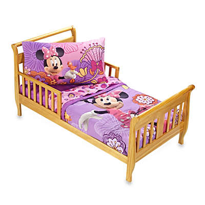 "Crown Crafts Disney® Minnie Mouse ""Fluttery Friends"" 4-Piece Toddler Bedding Set"
