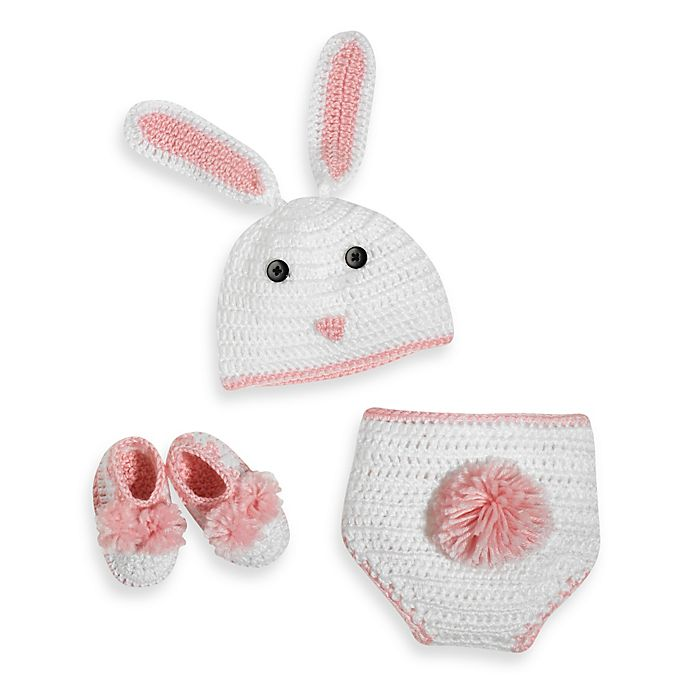 Alternate image 1 for So'dorable Size 0-6 Months Crocheted Bunny Set in White