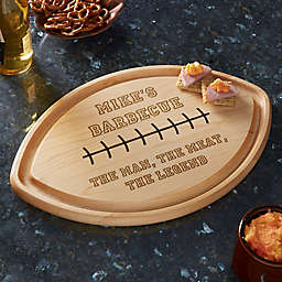 Write Your Own Personalized Football Shaped Cutting Board