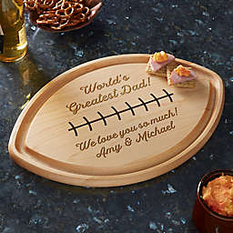 Greatest Dad Personalized Football Shaped Cutting Board