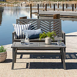Forest Gate Olive 2-Piece Acacia Patio Chat Set