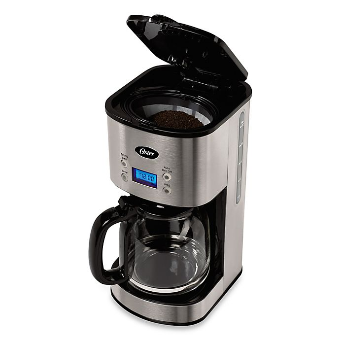 Alternate image 1 for Oster® 12-Cup Stainless Steel Programmable Coffee Maker