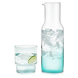 Libbey® Glass Prologue Haze 5-Piece Double Old Fashioned Glass and Carafe Set in Misty Blue