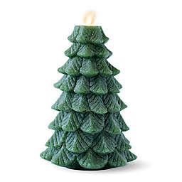 Luminara® Green Tree 8-Inch Real-Flame Effect Pillar Candle