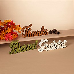 Gerson International Harvest Blessing Signs (Set of 3)