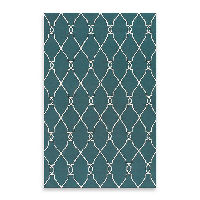 Alternate image 1 for Surya Afton Rug in Turquoise