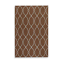 Surya Afton Rug in Chocolate/Pale Blue