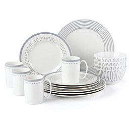 kate spade new york Charlotte Street™ East 16-Piece Dinnerware Set in Slate