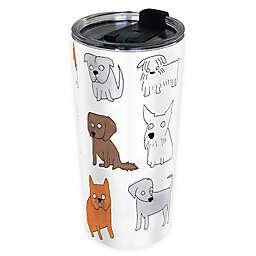 Indigo Falls® Dogs Moodi 24 oz. Stainless Steel Tumbler with Lid