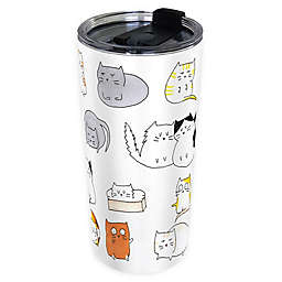 Indigo Falls® Cats Moodi 24 oz. Stainless Steel Tumbler with Lid