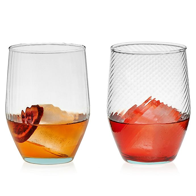 Alternate image 1 for Libbey® Glass Prologue Luna Curve Tumblers in Blue (Set of 6)