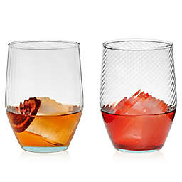 Libbey® Glass Prologue Luna Curve Tumblers in Blue (Set of 6)