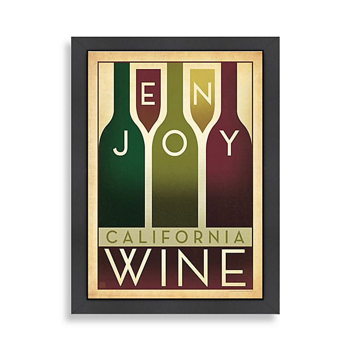 Alternate image 1 for Americanflat California Wine Framed Wall Art