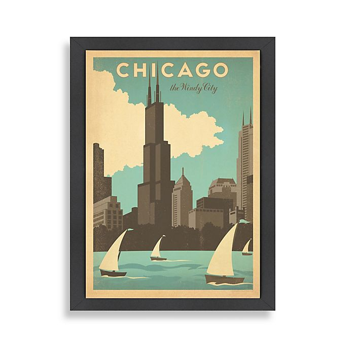 Alternate image 1 for Americanflat Chicago Windy City Framed Wall Art