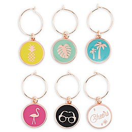 Palm Spring Wine Charms (Set of 6)