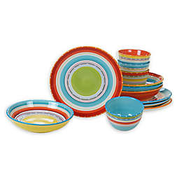Certified International Mariachi 12-Piece Dinnerware Set