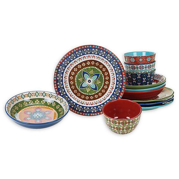 Alternate image 1 for Certified International Monterrey 12-Piece Dinnerware Set