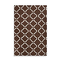 Jill Rosenwald Byron 2' x 3' Accent Rug in Chocolate/Cream