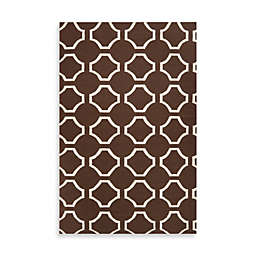 Jill Rosenwald Byron 2' x 3' Accent Rug in Chocolate/Cream